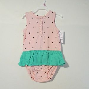 Carters Baby Girl 1 Piece Outfit Sz 9 M Watermelon